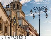 Купить «Фасад здания Казанского вокзала в Москве», фото № 7391343, снято 15 июля 2014 г. (c) Юрий Губин / Фотобанк Лори
