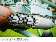 Купить «Советский многоцелевой транспортный вертолет Ми-24», фото № 7393599, снято 4 июня 2014 г. (c) g.bruev / Фотобанк Лори