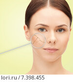 Купить «woman face with dry dehydrated skin», фото № 7398455, снято 2 апреля 2011 г. (c) Syda Productions / Фотобанк Лори