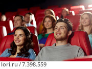 Купить «happy friends watching movie in theater», фото № 7398559, снято 19 января 2015 г. (c) Syda Productions / Фотобанк Лори
