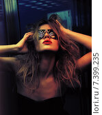 Купить «fashionable woman in nightclub», фото № 7399235, снято 24 августа 2011 г. (c) Syda Productions / Фотобанк Лори
