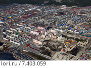 Купить «Вид на город Лянтор сверху», фото № 7403059, снято 5 мая 2015 г. (c) Владимир Мельников / Фотобанк Лори