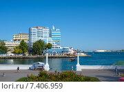 Купить «Набережная Севастополя. Крым», фото № 7406959, снято 21 июля 2014 г. (c) Ирина Балина / Фотобанк Лори