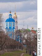 Купить «Церкви на набережной Тамбова», фото № 7408531, снято 3 мая 2015 г. (c) Карелин Д.А. / Фотобанк Лори