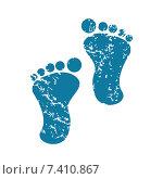 Купить «Footprint grunge icon», иллюстрация № 7410867 (c) Иван Рябоконь / Фотобанк Лори