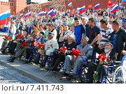 Ветераны войны на Параде Победы 9 мая 2015 года. Редакционное фото, фотограф Корнеев Дмитрий / Фотобанк Лори