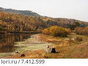Купить «Река Ингода. Забайкальский край», эксклюзивное фото № 7412599, снято 24 сентября 2007 г. (c) Александр Щепин / Фотобанк Лори