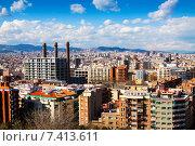 Купить «residence district in Barcelona from Montjuic hill», фото № 7413611, снято 28 марта 2013 г. (c) Яков Филимонов / Фотобанк Лори