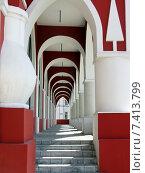 Купить «Достопримечательность г.Калуги Гостиные ряды.», фото № 7413799, снято 10 мая 2015 г. (c) Лариса Вишневская / Фотобанк Лори
