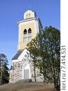 Купить «Керимяки. Финляндия. Самая большая христианская церковь, построенная из дерева. 1848. Колокольня», фото № 7414531, снято 25 апреля 2015 г. (c) Владимир Кошарев / Фотобанк Лори