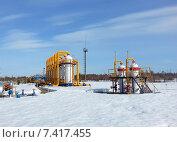 Купить «Газотранспортное оборудование на Ямале», эксклюзивное фото № 7417455, снято 5 мая 2015 г. (c) Григорий Писоцкий / Фотобанк Лори