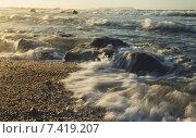 Морской закат. Стоковое фото, фотограф Антон Юрченков / Фотобанк Лори