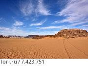 Купить «Пустыня Вади Рам во время заката, Иордании», фото № 7423751, снято 2 апреля 2015 г. (c) Знаменский Олег / Фотобанк Лори