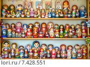 Купить «Матрешки», фото № 7428551, снято 10 мая 2015 г. (c) Геннадий Соловьев / Фотобанк Лори