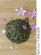Изысканный зеленый чай на столе. Стоковое фото, фотограф Ivan Dubenko / Фотобанк Лори