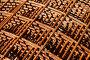Металлическая арматура для стройки, фон, фото № 7432491, снято 6 мая 2015 г. (c) Юрий Морозов / Фотобанк Лори