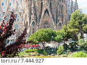 Фрагмент Храма Святого Семейства (Temple de la Sagrada Familia). Барселона. Испания (2015 год). Редакционное фото, фотограф E. O. / Фотобанк Лори