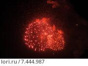 Купить «Фейерверк в честь Дня Победы», фото № 7444987, снято 9 мая 2015 г. (c) Иванова Анастасия / Фотобанк Лори