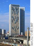 Купить «Жилой комплекс «Дом на Беговой» – первая очередь. Хорошёвское шоссе, 16, корпуса 1 и 2.  Москва», эксклюзивное фото № 7451587, снято 9 марта 2015 г. (c) lana1501 / Фотобанк Лори