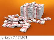 Много денег. Стоковая иллюстрация, иллюстратор Дмитрий Шмелев / Фотобанк Лори
