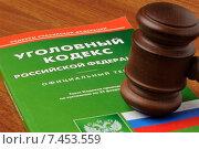 Купить «Судейский молоток на уголовном кодексе Российской Федерации», фото № 7453559, снято 30 апреля 2015 г. (c) Денис Ларкин / Фотобанк Лори