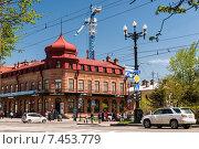 Доходный дом  И.А. Гржибовского. Хабаровск (2015 год). Редакционное фото, фотограф Антон Афанасьев / Фотобанк Лори