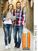 Купить «travelers going to the hotel», фото № 7460115, снято 27 мая 2019 г. (c) Яков Филимонов / Фотобанк Лори