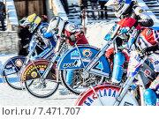 Купить «Начало гонок на льду. Уфа», фото № 7471707, снято 1 февраля 2014 г. (c) Andrey Michurin / Фотобанк Лори