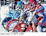 Купить «Спидвей. Чемпионат России в Уфе», фото № 7471735, снято 1 февраля 2014 г. (c) Andrey Michurin / Фотобанк Лори