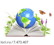 Купить «Book of nature and Earth», фото № 7473407, снято 20 января 2020 г. (c) Лукиянова Наталья / Фотобанк Лори