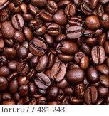 Купить «Жареные кофейные зерна», фото № 7481243, снято 16 ноября 2011 г. (c) Анна Полторацкая / Фотобанк Лори