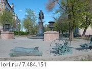Купить «Памятник инженеру В. Г. Шухову на Сретенском бульваре. Москва», фото № 7484151, снято 12 мая 2015 г. (c) Pukhov K / Фотобанк Лори
