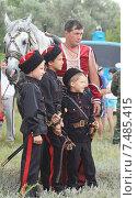 Казачьи дети на празднике (2011 год). Редакционное фото, фотограф Нина Ефремова / Фотобанк Лори