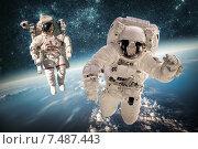 Купить «Astronaut in outer space», фото № 7487443, снято 9 февраля 2013 г. (c) Андрей Армягов / Фотобанк Лори