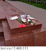 Купить «В память об Олесе Бузине (на памятнике В. И. Ленину в Ялте)», фото № 7489111, снято 3 мая 2015 г. (c) Маргарита Лир / Фотобанк Лори