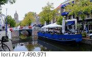 Купить «Делфт (Голландия), городской пейзаж», видеоролик № 7490971, снято 28 мая 2015 г. (c) FMRU / Фотобанк Лори