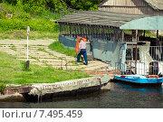 Купить «Лодочник», фото № 7495459, снято 27 мая 2015 г. (c) Косолапов Владислав / Фотобанк Лори