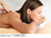 Купить «beautiful woman in spa salon getting massage», фото № 7498951, снято 25 июля 2013 г. (c) Syda Productions / Фотобанк Лори