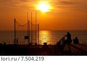 Закат на море (2011 год). Стоковое фото, фотограф Виталий Булыга / Фотобанк Лори
