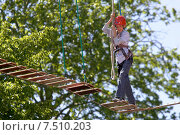 Купить «High ropes course and airy heights», фото № 7510203, снято 18 июня 2005 г. (c) Caro Photoagency / Фотобанк Лори