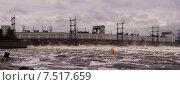 Купить «Сброс воды на Камской ГЭС. Панорама», фото № 7517659, снято 23 мая 2015 г. (c) Александр Лядов / Фотобанк Лори