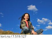 Купить «Веселая девочка», фото № 7519127, снято 30 мая 2015 г. (c) Ирина Здаронок / Фотобанк Лори