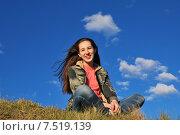 Купить «Девочка смеется», фото № 7519139, снято 30 мая 2015 г. (c) Ирина Здаронок / Фотобанк Лори