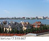 Казань, вид на набережную реки Казанки (2013 год). Стоковое фото, фотограф Людмила Абрамова / Фотобанк Лори