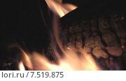 Купить «Горящие дрова», видеоролик № 7519875, снято 3 июня 2015 г. (c) Звездочка ясная / Фотобанк Лори