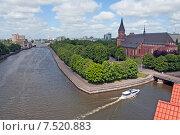 Купить «Вид на остров Канта со смотровой площадки маяка. Кафедральный собор. Калининград», эксклюзивное фото № 7520883, снято 4 июня 2015 г. (c) Svet / Фотобанк Лори