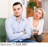 Купить «Quarrel of adult son and senior mother», фото № 7524887, снято 12 июля 2020 г. (c) Яков Филимонов / Фотобанк Лори