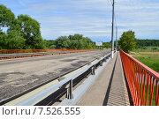 Купить «Автомобильный мост через реку Клязьму (Шапкин мост). Королев, Московской области», эксклюзивное фото № 7526555, снято 2 июня 2015 г. (c) lana1501 / Фотобанк Лори