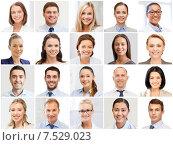 Купить «collage with many business people portraits», фото № 7529023, снято 19 августа 2019 г. (c) Syda Productions / Фотобанк Лори