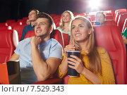 Купить «happy friends watching movie in theater», фото № 7529343, снято 19 января 2015 г. (c) Syda Productions / Фотобанк Лори